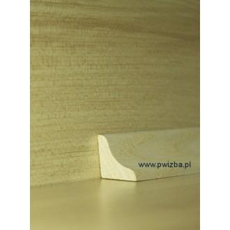 Listwa przypodłogowa ćwirćwałek 17 wypukły lite drewno