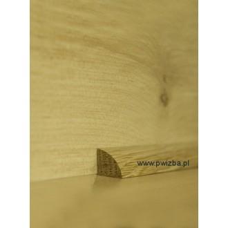 Listwa przypodłogowa ćwierćwałek 12 wypukły lite drewno
